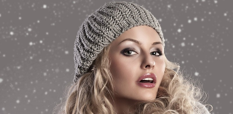 fashion blonde winter girl