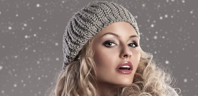 fashion blonde winter girl